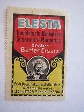 Nürnberg - Leonh. Stadelmann - Elesta - bester Butter-Ersatz / Reklamemarke