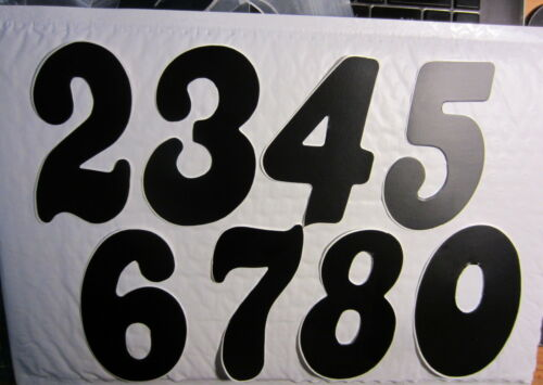 Old School style BMX MTB Road MX UGP Number Stickers for Racing Numberplates
