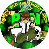 BEN 10 BIRTHDAY CAKE EDIBLE ROUND PERSONALISED CAKE TOPPER DECORATION