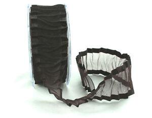 Chocolate-Crinkled-Satin-Edge-Organza-Ribbon-38MM-Wide