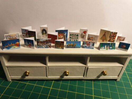 Conjunto de 20 Tarjetas de Navidad Dollshouse 1:12 Escala