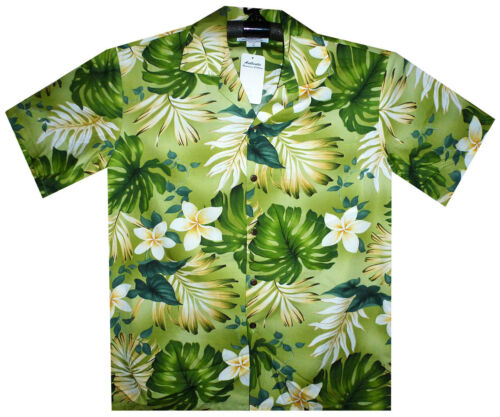 S Original New Pla Hawaiihemd Grün Shirt 4xl Hawaiian Flower Tnnq01