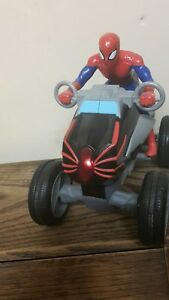 Details about Spiderman figure motorbike vehicle sound Effects Light  Buttons marvel christmas
