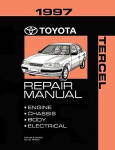 1997 toyota tercel shop service repair manual book engine drivetrain rh ebay com 1996 Cavalier 1997 chevy cavalier repair manual free download