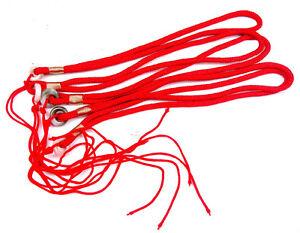 5 Stück Rot Trageriemen Strings Kordel Für Dzi-steine Perlen Anhänger #04181705 As Effectively As A Fairy Does Antiques