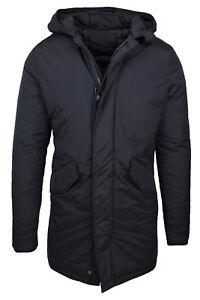 sports shoes a5dab e7ee9 Dettagli su Parka uomo giacca cappotto nero invernale trench con cappuccio  da XS a XXXL