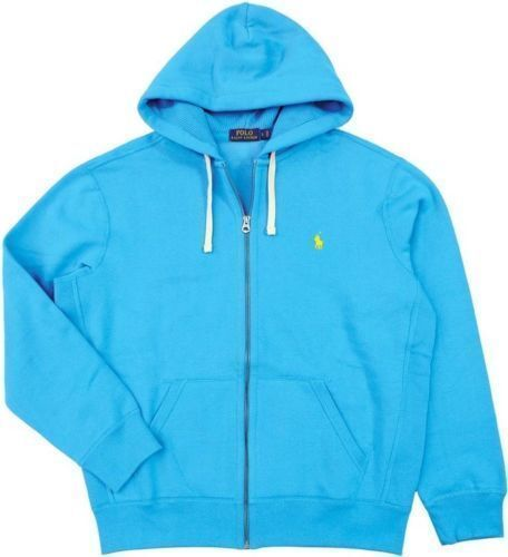 New Polo Ralph Lauren Caribbean Blau Full Zip Fleece Hoodie / XLT