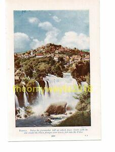 Pliva-Falls-at-Jajce-Bosnia-Book-Illustration-Print-c1920
