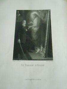 Impartial Gravure 19ème - Le Tableau D'eglise