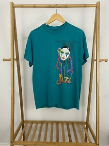 VTG-New-Orleans-Jazz-Bold-Teal-Single-Stitch-Short-Sleeve-T-Shirt-Size-L-USA