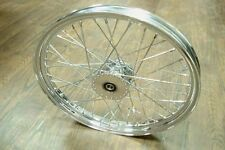 "21"" Front Spool Hub Wheel, billet hub 3-1/2"" wide x 5"" diameter, 40 chrome spoke"