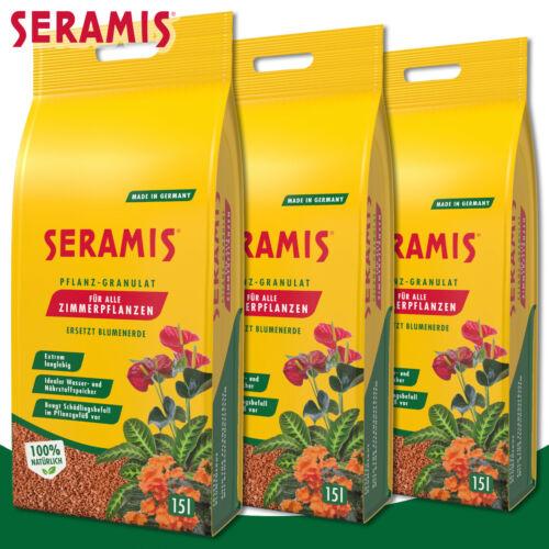 Seramis 3 x 15 Liter Pflanz-Granulat für Zimmerpflanzenersetzt Blumenerde