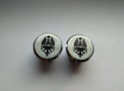 Bianchi Handlebar End Plugs Bar Caps lenkerstopfen bouchons silver flat vintage