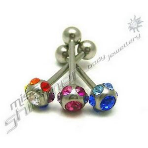 MULTI-GEM-CZ-CRYSTAL-TONGUE-BAR-CHOOSE-FROM-GEM-3-COLOURS-14G-STEEL-TONGUE