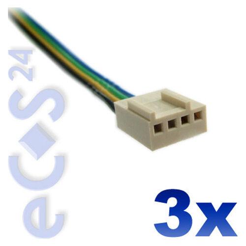10x Molex Stecker für 12V PC Lüfter Anschlusskabel für 3 und 4 Pin