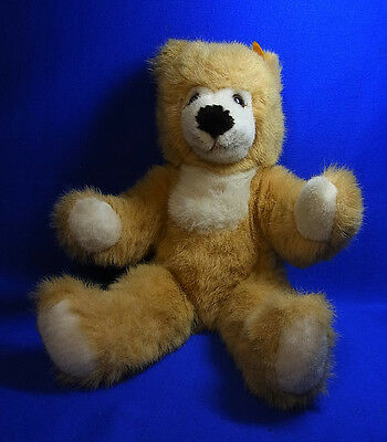 Original Modern Stuffed Animal Steiff Toy Teddy Bear with Button #^D42