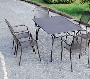 Tavolo tavoli sedie sedie poltrone ferro battuto esterno esterni giardino ebay - Tavolo giardino ferro battuto ...
