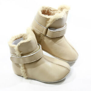 NEW-SKEANIE-Pre-walker-Baby-amp-Toddler-SNUG-Boots-Cream-0-to-2-years