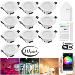 10X-WIFI-Bluetooth-RGBWC-LED-Ceiling-Lamp-Down-Light-Dimmable-Music-Spotlights