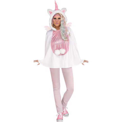 Adult Unicorn Hooded Poncho Costume size 4-14