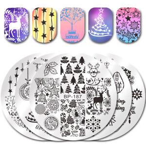 BORN-PRETTY-Xmas-Stamping-Plates-Winter-Christmas-Nail-Art-Image-Plate
