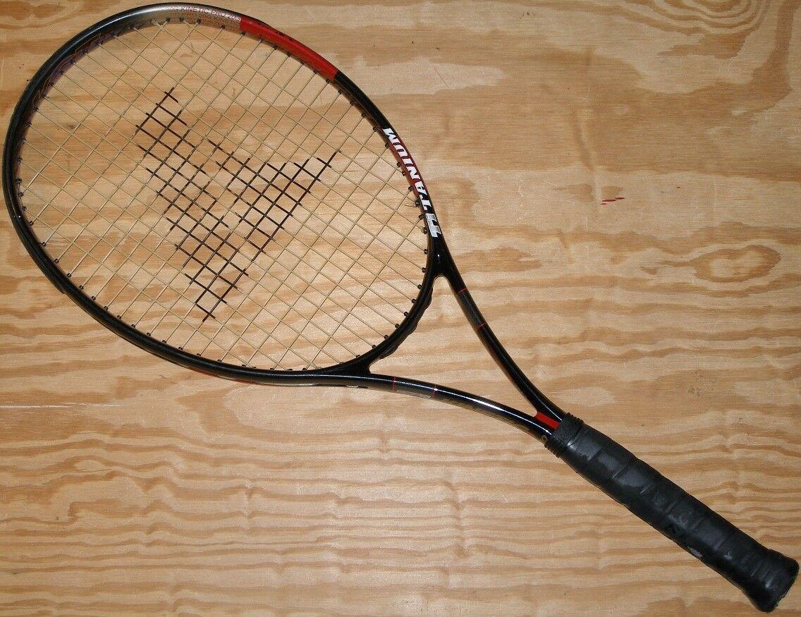 Pro Kennex Kinetic Pro TI 20G alcance 4 3 8  Titanio SMI Raqueta De Tenis Con Tapa  promociones de equipo