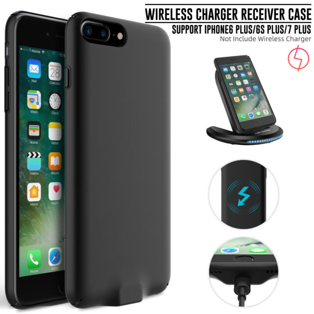 quality design 805bf d1357 For iPhone 6 6s 7 Plus QI Wireless Charger Power Receiver Case Charging  Cover US