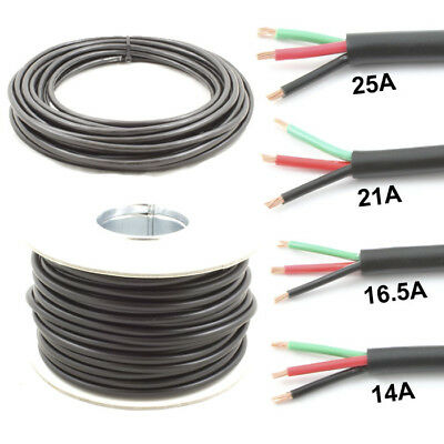 7 Core Cable 12v 24v Thin Wall Wire *14 AMP Rated* Trailer 30M Roll Caravan LED Lights