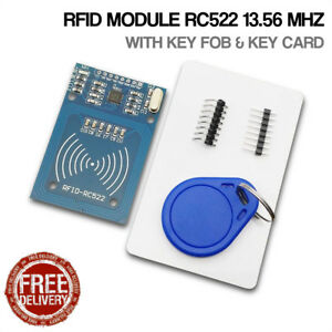 Details about RFID Module RC522 13 56 mHz NFC RF IC Card S50 Keyfob for  Arduino Raspberry Pi