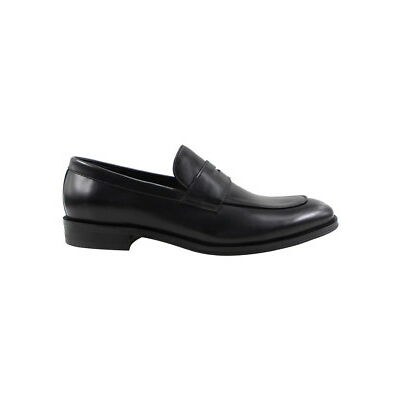 NEW Trent Nathan Brookes Leather Penny Loafer Black
