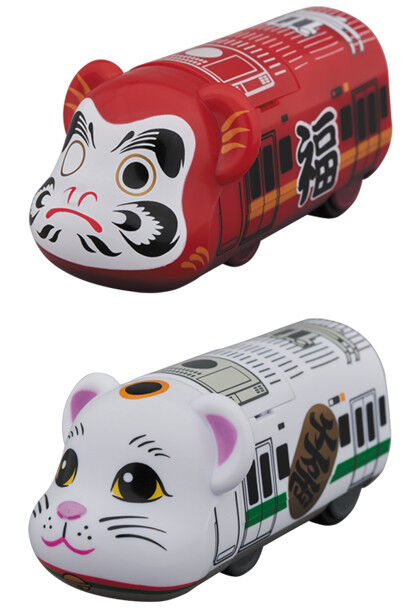 Bearbrick Train Daruma Manekineko Set Medicom Spielzeug Be@rbrick BT 01 , BT 02