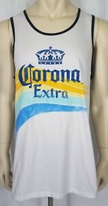 af1b45af2af60 NWT Corona Extra white blue yellow sleeveless tank top muscle shirt ...