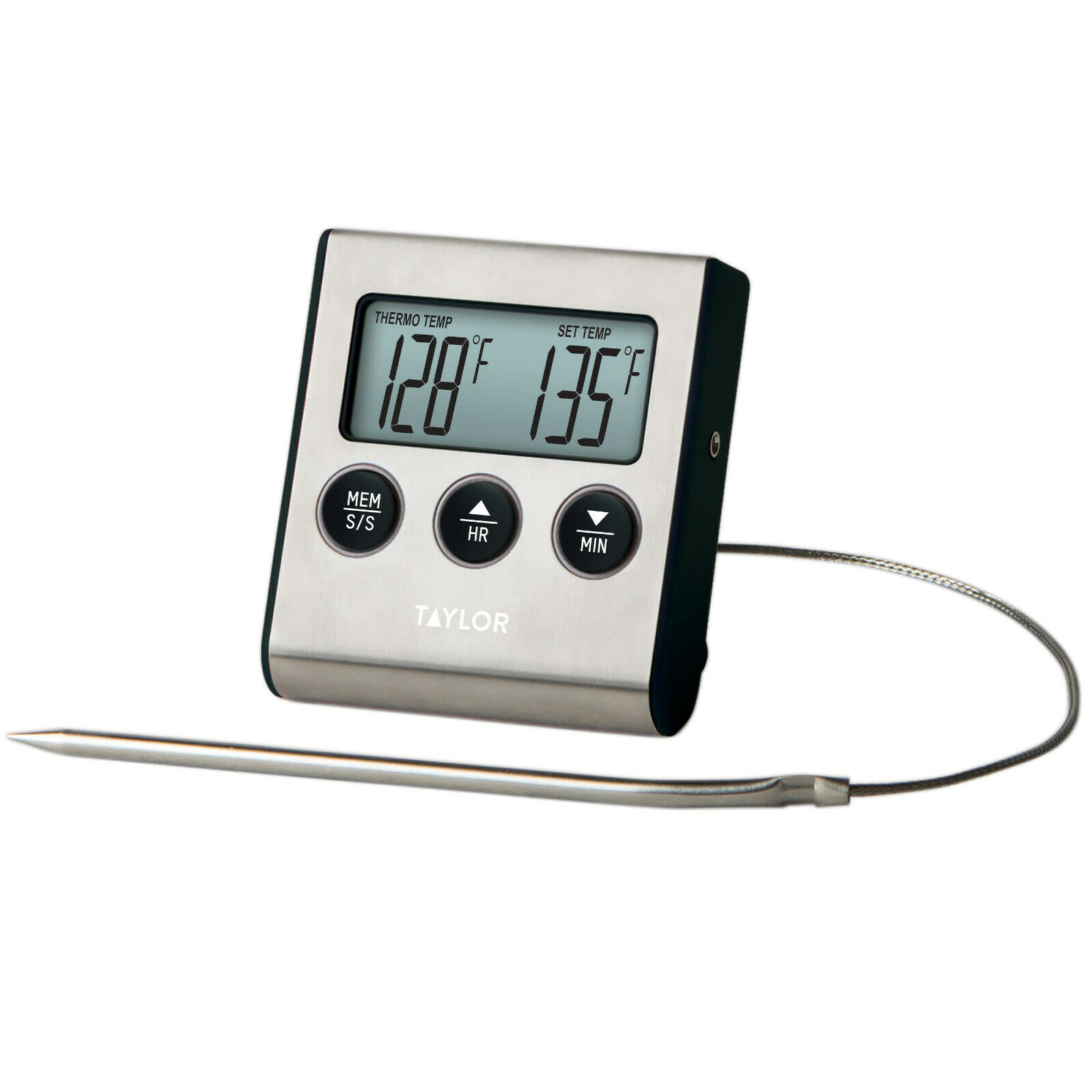 Stainless Steel 7.5 x 6 x 13 cm Taylor Pro Leave In Meat Thermometer Probe