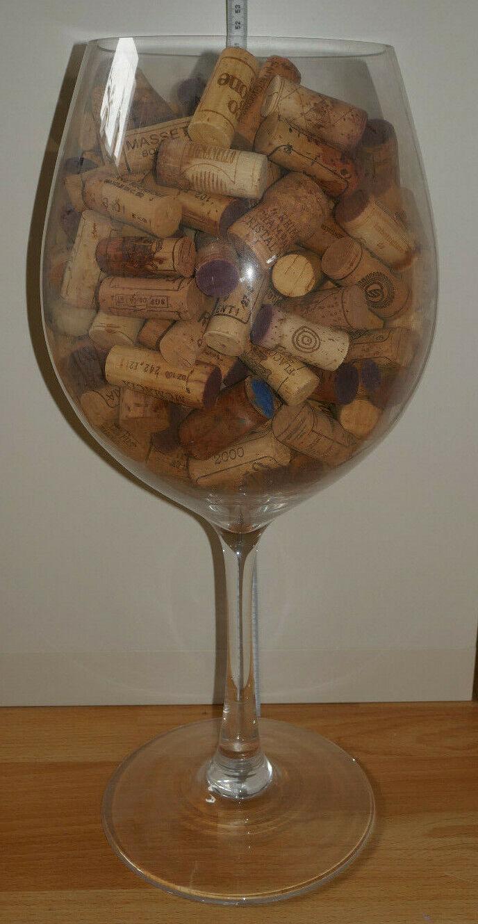 Dekoglas Stielglas Weinglas Deko Glas ca. 50 cm TOP | ein guter Ruf in der Welt