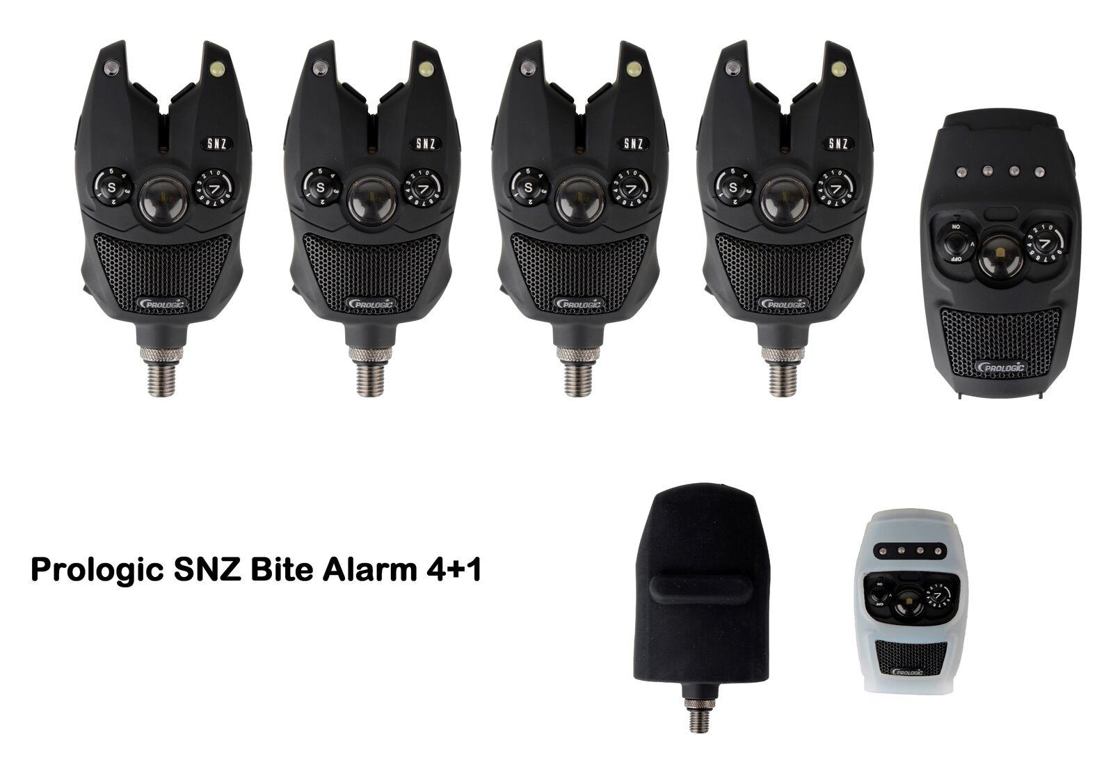 Prologic SNZ Bite Alarm Funkbissanzeiger 4+1 mit Koffer Case Schutzhülle Funkset