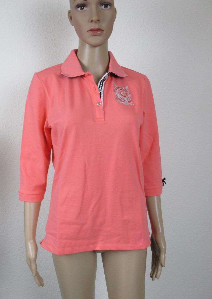 HV Polo, Polo Shirt mit 3 4 Arm, Farbe coral Rosat, Größe XXXL