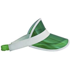 Adult-Men-039-s-Plain-Green-Banker-Vegas-Poker-High-Roller-Plastic-Costume-Visor-Hat