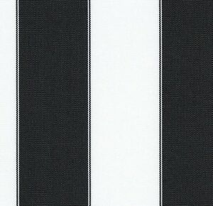 Outdoor Upholstery Waterproof Canvas Light Black White Striped