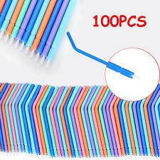 100pcs Disposable Dental Triple Syringe Handpiece Nozzles Tips Colorful Plastic