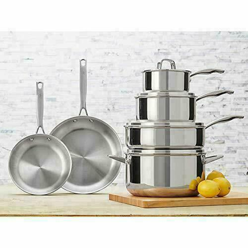 J.A. Henckels International RealClad Tri-Ply Stainless Steel 10 Pc Cookware Set