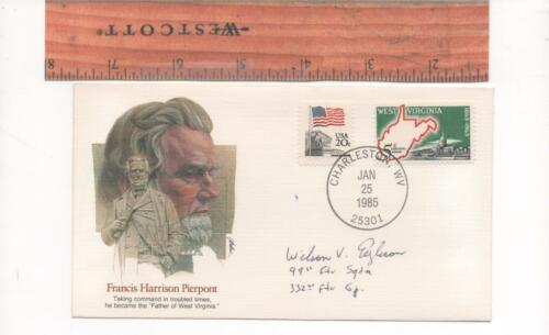 ~ Signed Beautiful Historic Postal #2 Deceased Tuskegee Airman ~Wilson Eagleson