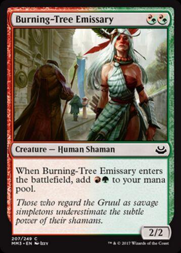 MRM ENGLISH 4x Burning-Tree Emissary Émissaire de Brûle-Arbre MTG magic MM17