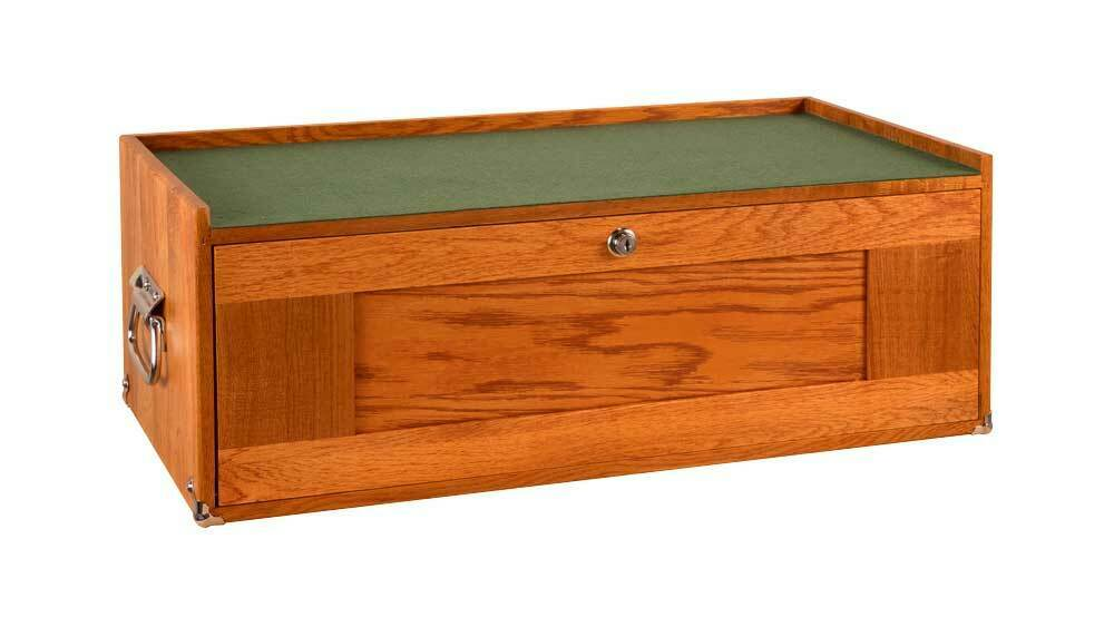 Gerstner International GI-M24 3 Drawer Oak, Veneer & Plywood Mid Base Tool Hobby