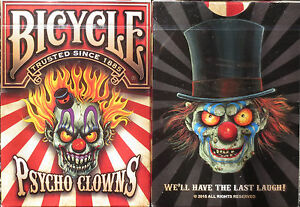 Bicycle Pyscho Clowns Playing Cards – Limited Edition - SEALED