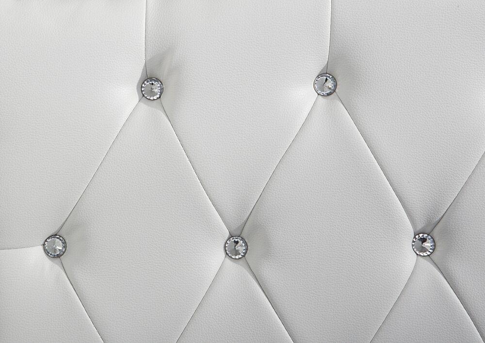 Cama barroca Unicorn Unicorn Unicorn cama de cuero blanco con pedrería somier cama recuadro cuero 27bb32