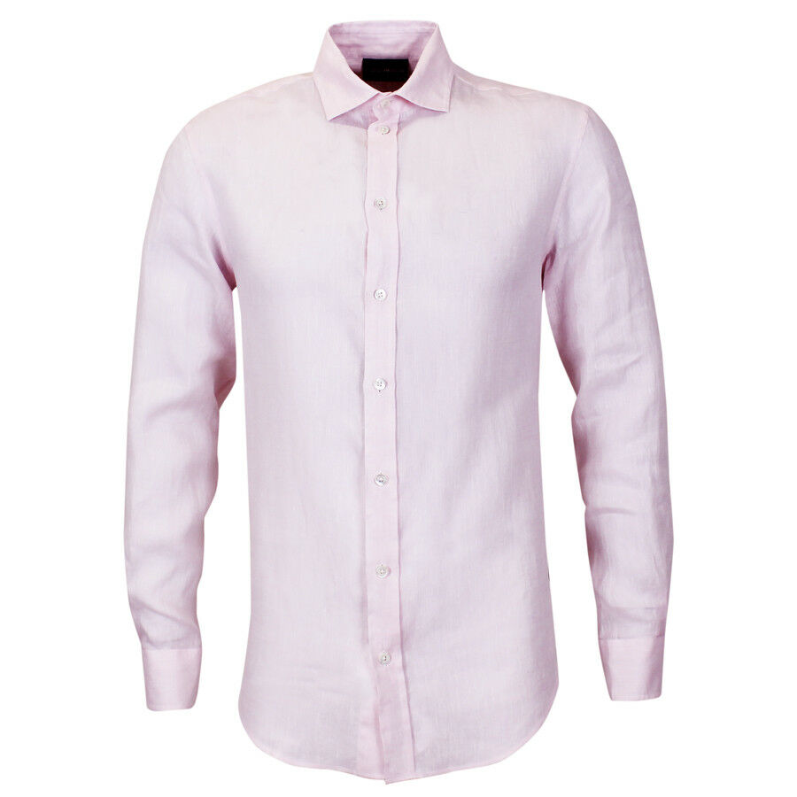 Emporio Armani Light Pink Linen Shirt XL NEW WITH TAGS RRP