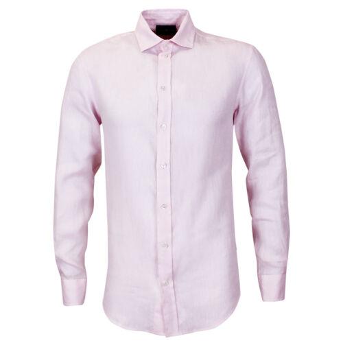 Armani nuova Xl Rrp con tag 185 chiaro Camicia di Emporio rosa lino £ qxww0tTf