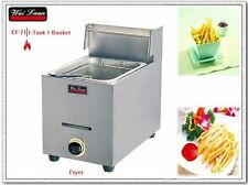 1-tank 1-basket tabletop gas deep fryer
