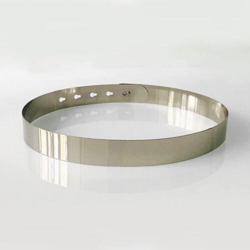 Gürtel Metall Material Flash Einstellbar Einfach Stilvoll Bekleidung Accessoires