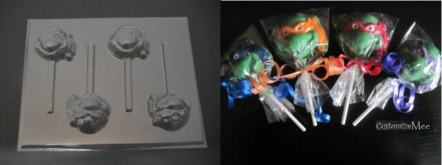 TEENAGE MUTANT NINJA TURTLE HEAD FACE TMNT Chocolate Candy Mold NEW IMPROVED